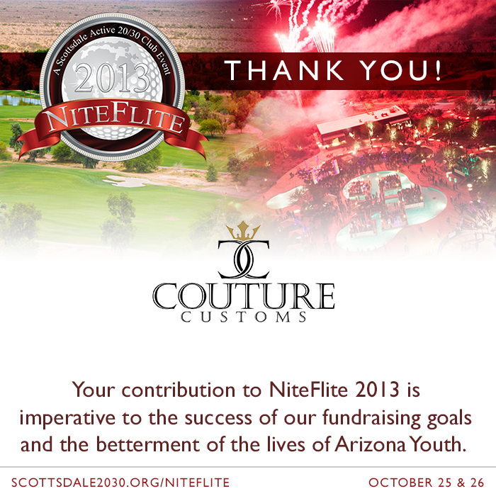 New NiteFlite 2013 Partner – Couture Customs of Scottsdale