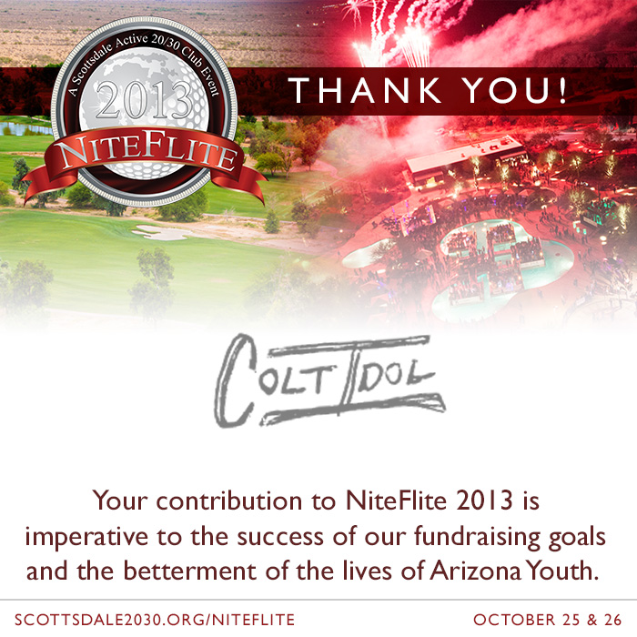 New NiteFlite 2013 Partner – Artist Colt Idol
