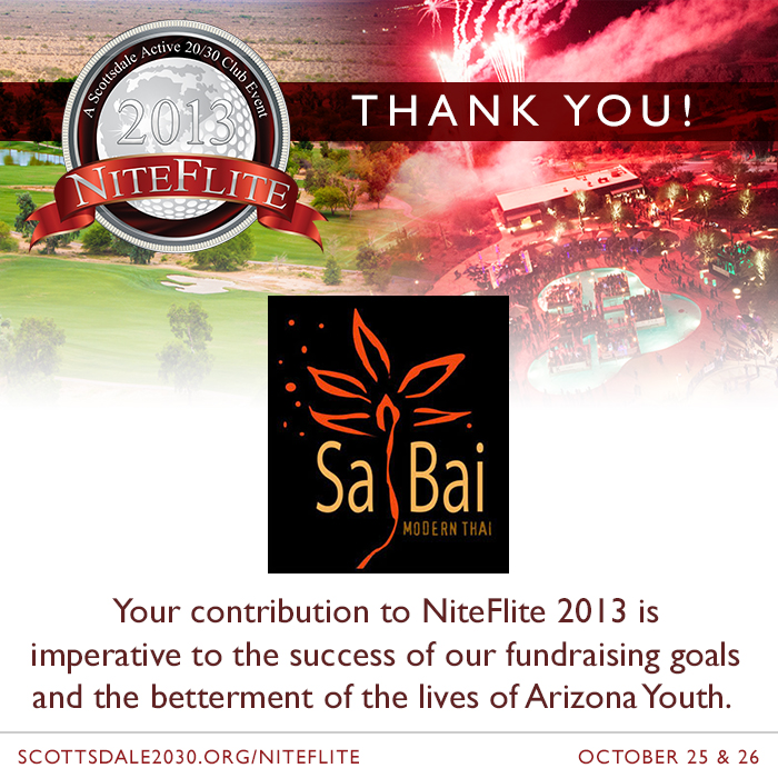 New NiteFlite 2013 Food Partner – Sa Bai Modern Thai